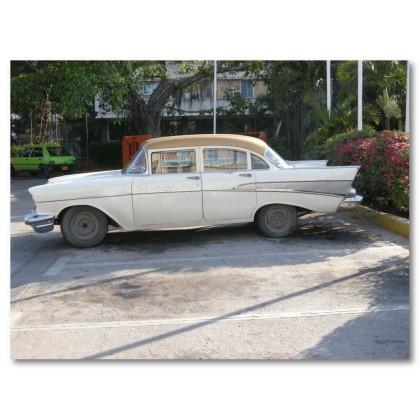 Αφίσα (Κούβα, αυτοκίνητο, αρχιτεκτονική)